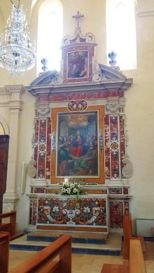 Altare della Vergine nel Cenacolo di Pentecoste