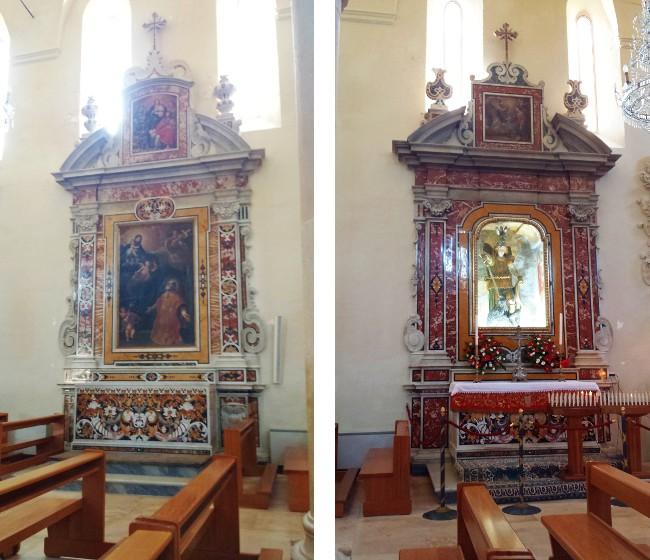 Altari di San Filippo Neri e di San Michele