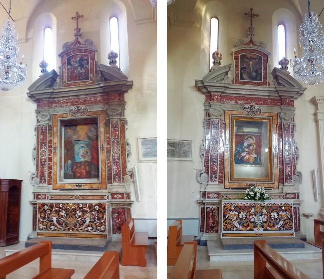 Altari di Santa Maria del Piede e di Santa Maria di Costantinopoli