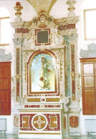 Sagrestia della Cattedrale di Gravina in Puglia - Altare di San Michele
